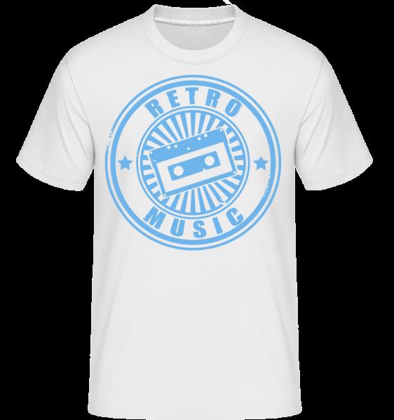 Retro Music Logo - T-Shirt Shirtinator homme - Blanc - Devant