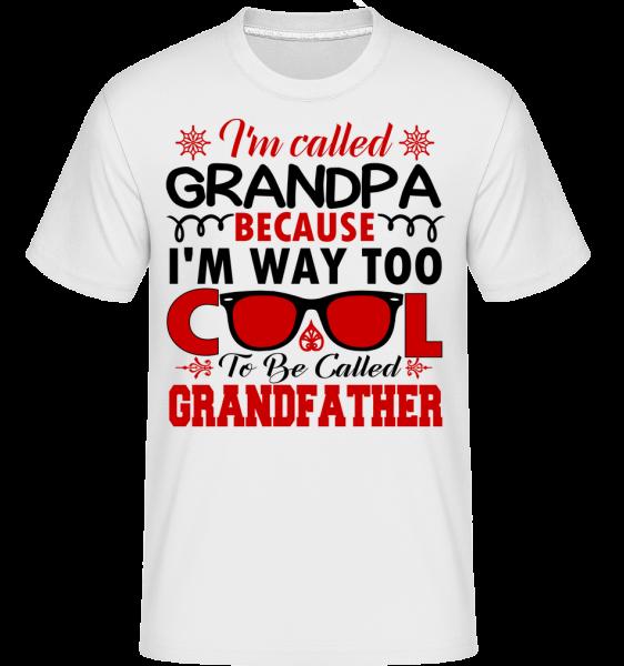 Way Too Cool Grandpa - T-Shirt Shirtinator homme - Blanc - Devant