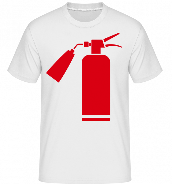 Fire Department Symbol Red - T-Shirt Shirtinator homme - Blanc - Devant