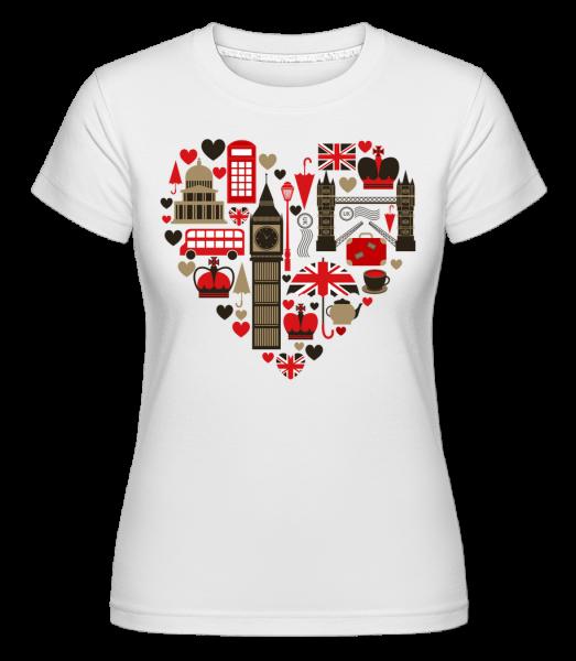 London Love Heart - T-shirt Shirtinator femme - Blanc - Devant