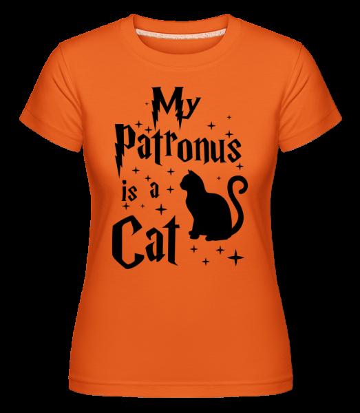 My Patronus Is A Cat - T-shirt Shirtinator femme - Orange - Devant