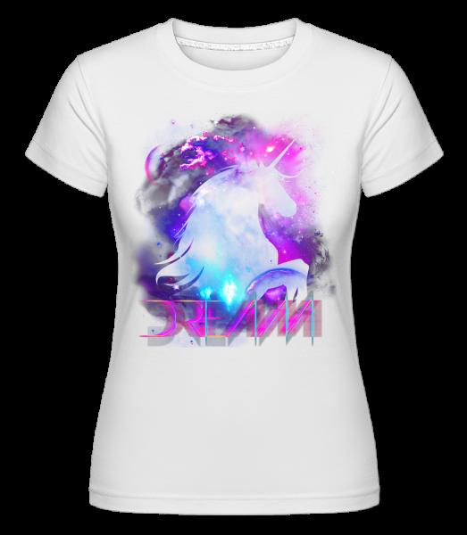 Dream Unicorn -  T-shirt Shirtinator femme - Blanc - Devant