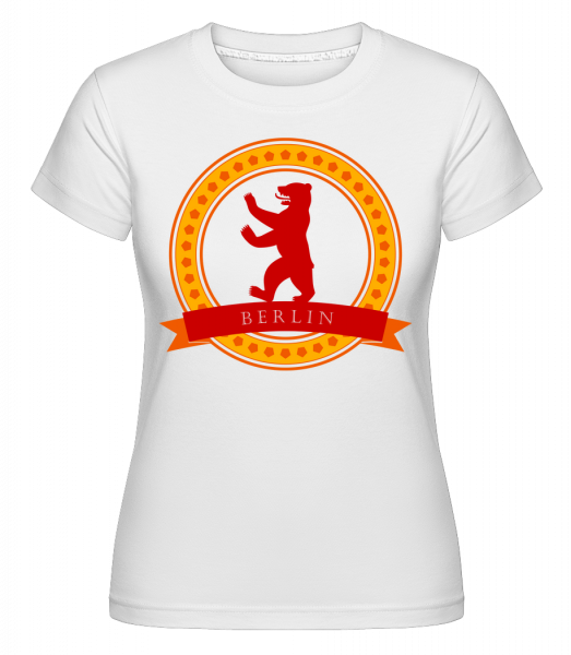 Berlin Bear Icon - T-shirt Shirtinator femme - Blanc - Devant