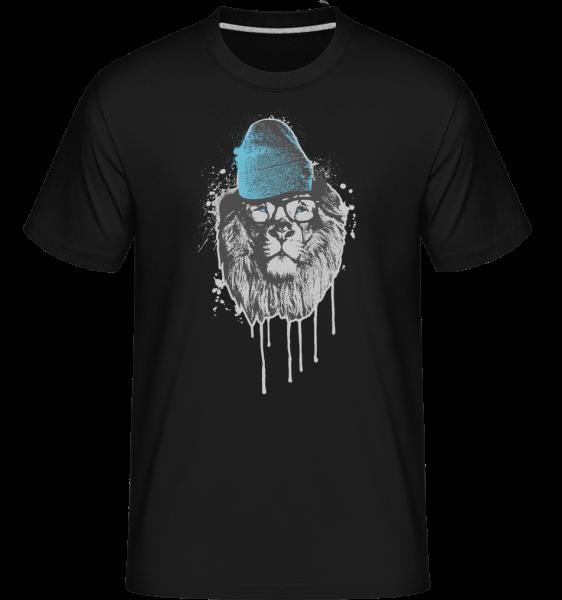 Lion with Head - T-Shirt Shirtinator homme - Noir - Devant