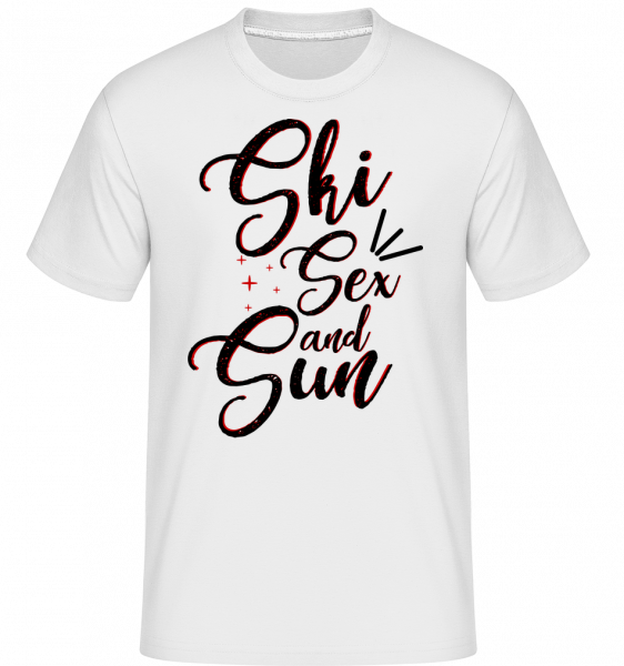 Ski Sex And Sun - T-Shirt Shirtinator homme - Blanc - Devant