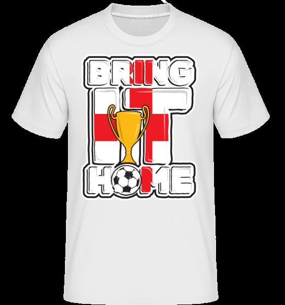 Football Angleterre Bring It Home - T-Shirt Shirtinator homme - Blanc - Devant