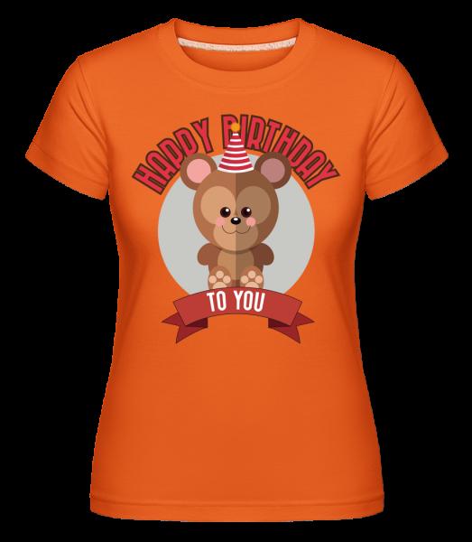 Happy Birthday To You Singe -  T-shirt Shirtinator femme - Orange - Devant