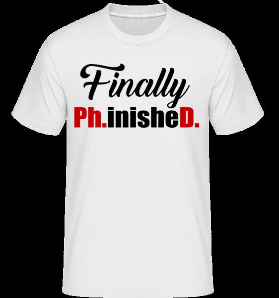 Finally PHinisheD -  T-Shirt Shirtinator homme - Blanc - Devant