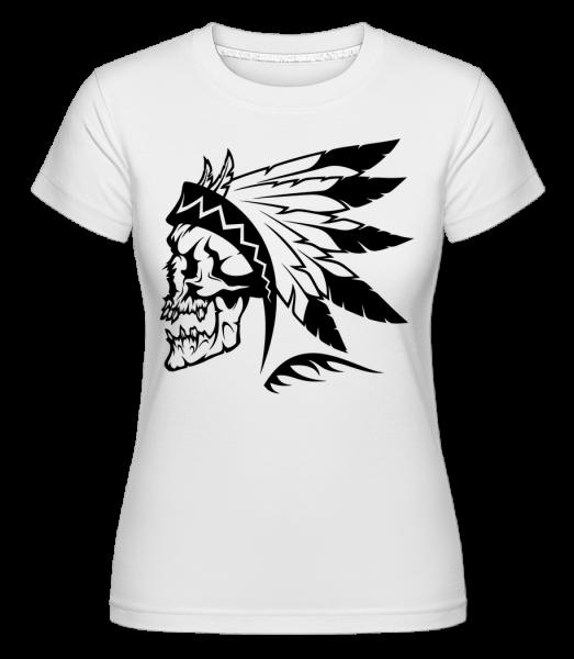 Wild West Skull -  T-shirt Shirtinator femme - Blanc - Devant