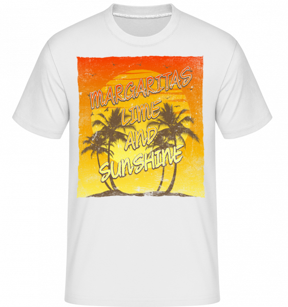 Margaritas And Sunshine -  T-Shirt Shirtinator homme - Blanc - Devant