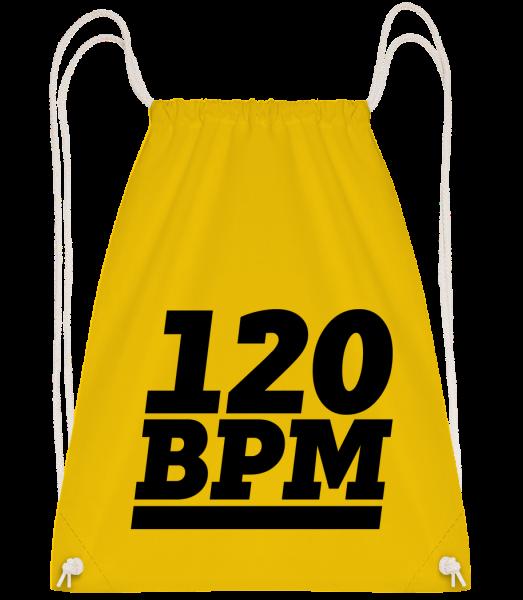 120 BPM Logo - Sac à dos Drawstring - Jaune - Devant