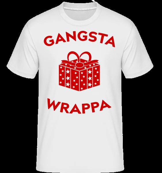 Gangsta Wrappa - T-Shirt Shirtinator homme - Blanc - Devant