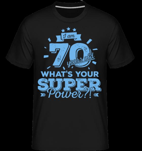 70 Years Super Power -  T-Shirt Shirtinator homme - Noir - Devant