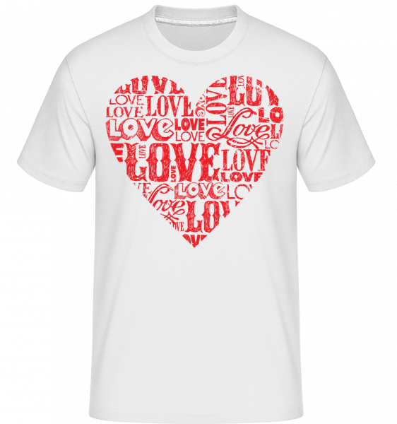 Love Heart Red - T-Shirt Shirtinator homme - Blanc - Devant