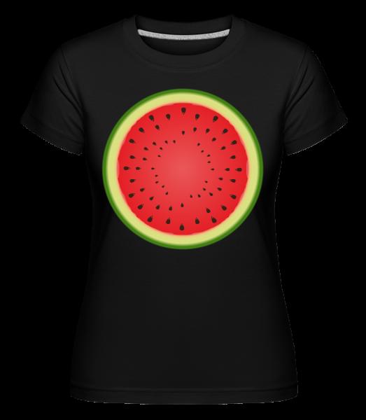 Pastèque - T-shirt Shirtinator femme - Noir - Devant