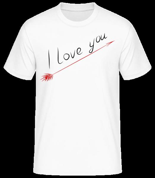 I Love You - Basic T-Shirt - Blanc - Devant