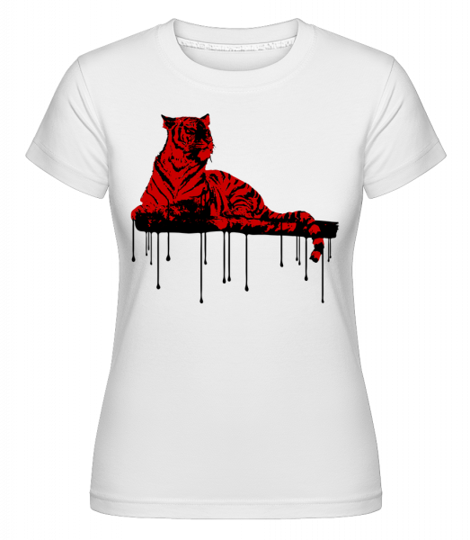 Tigre Rouge - T-shirt Shirtinator femme - Blanc - Devant
