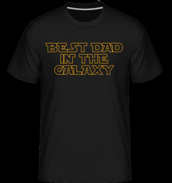 Best Dad In The Galaxy - T-Shirt Shirtinator homme - Noir - Devant