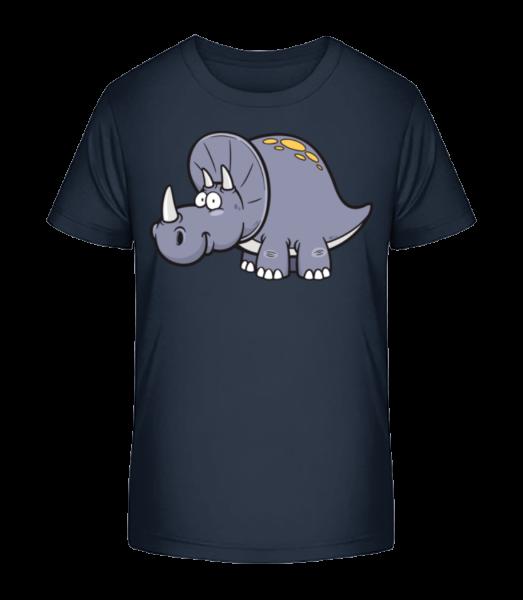 Triceratops Comiques - T-shirt bio Premium Enfant - Bleu marine - Devant