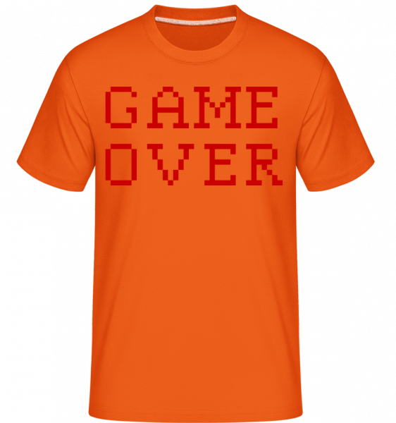 Game Over Pixel - T-Shirt Shirtinator homme - Orange - Devant
