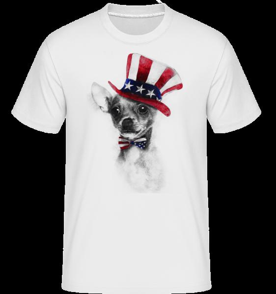 Etats Unis Chihuahua - T-Shirt Shirtinator homme - Blanc - Devant