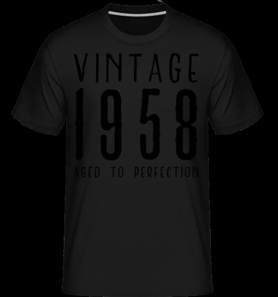 Vintage 1958 Aged To Perfection -  T-Shirt Shirtinator homme - Noir - Devant