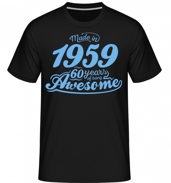Made In 1959 60 Years Awesome - T-Shirt Shirtinator homme - Noir - Devant