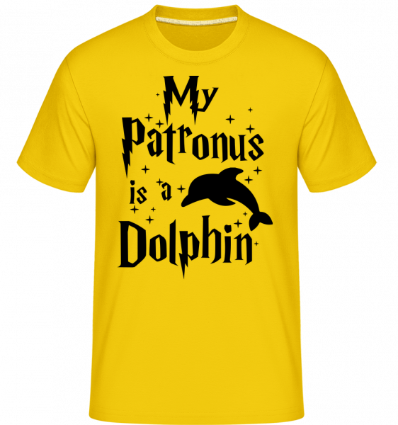 My Patronus Is A Dolphin - T-Shirt Shirtinator homme - Jaune doré - Devant