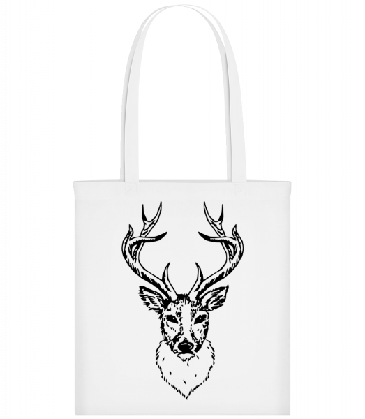 Deer Head Black - Sac tote - Blanc - Devant