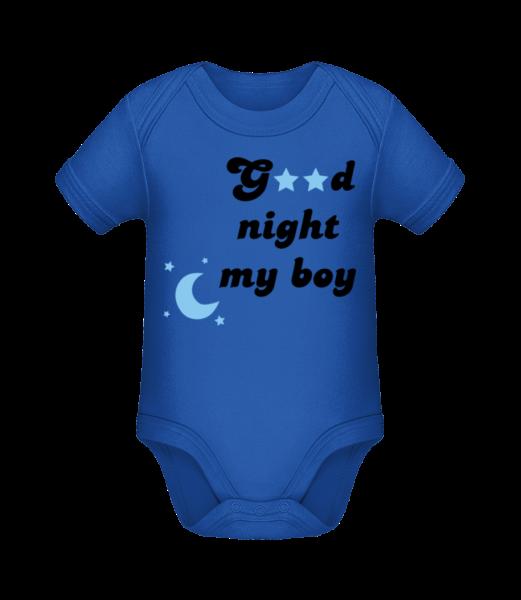 Good Night My Boy - Body manches courtes bio - Bleu royal - Devant