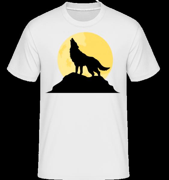 Gothic Wolve Sunset -  T-Shirt Shirtinator homme - Blanc - Devant