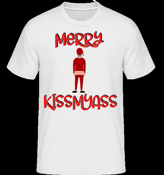 Merry Kissmyass -  T-Shirt Shirtinator homme - Blanc - Devant