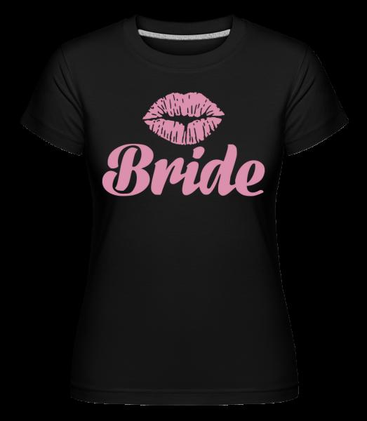 Bride Kiss -  T-shirt Shirtinator femme - Noir - Devant