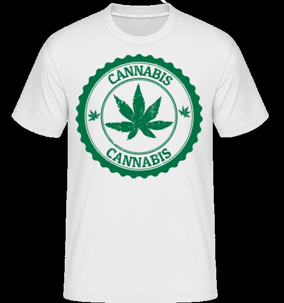 Cannabis Logo - T-Shirt Shirtinator homme - Blanc - Devant