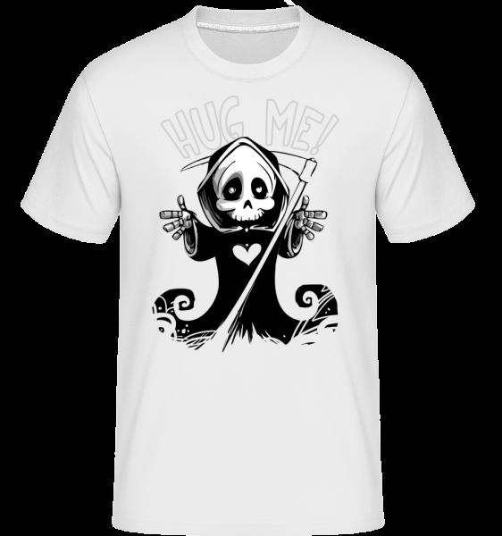 Death Want's A Hug - T-Shirt Shirtinator homme - Blanc - Devant