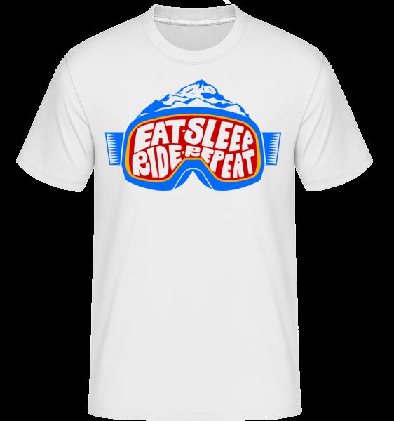 Eat Sleep Ride Repeat - T-Shirt Shirtinator homme - Blanc - Devant