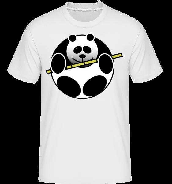 Panda Comic -  T-Shirt Shirtinator homme - Blanc - Devant