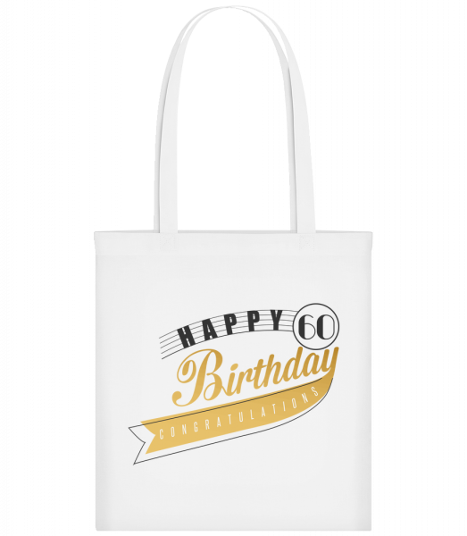 Happy 60 Birthday - Sac tote - Blanc - Devant