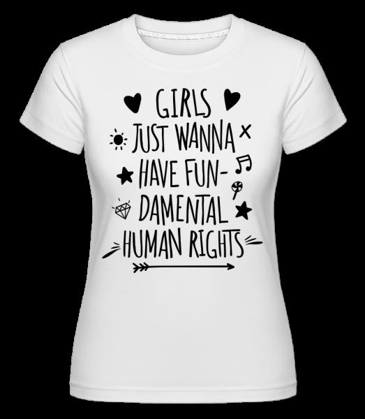 Damental Human Rights - T-shirt Shirtinator femme - Blanc - Devant