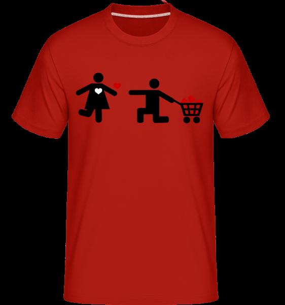 Femme Et Homme Et Cœur Logo -  T-Shirt Shirtinator homme - Rouge - Devant