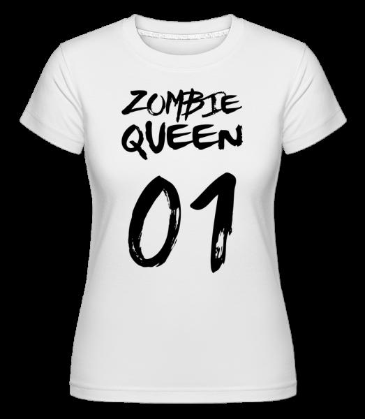 Zombie Queen -  T-shirt Shirtinator femme - Blanc - Devant