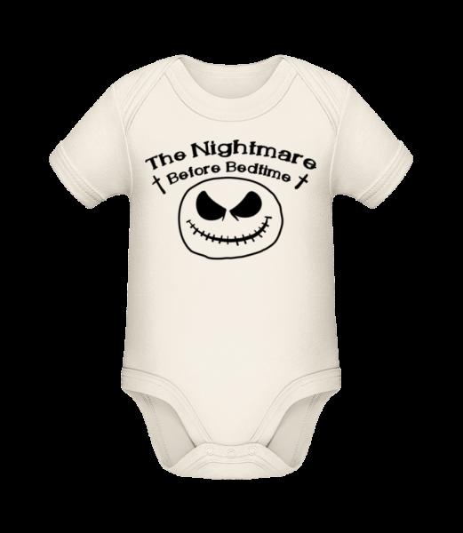 Nightmare Before Bedtime - Body manches courtes bio - Crème - Devant