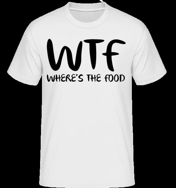 WTF Where's The Food - T-Shirt Shirtinator homme - Blanc - Devant