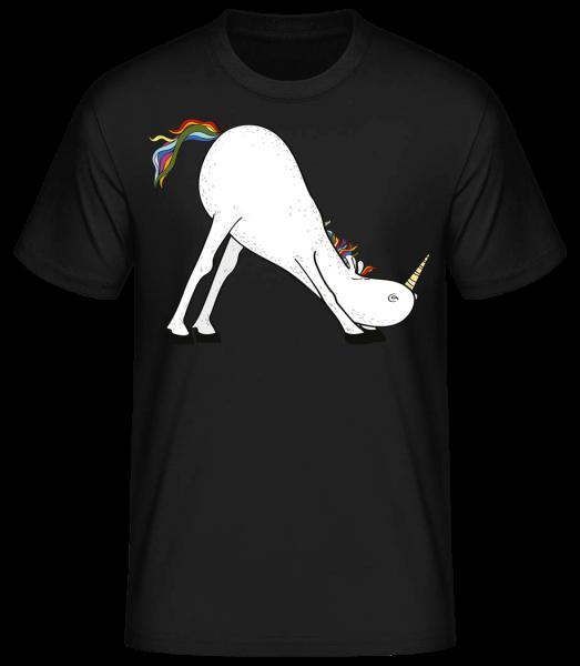 Yoga Licorne La Diapositive - T-shirt standard homme - Noir - Devant