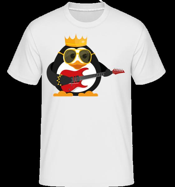 Pingouin Roi Guitare -  T-Shirt Shirtinator homme - Blanc - Devant
