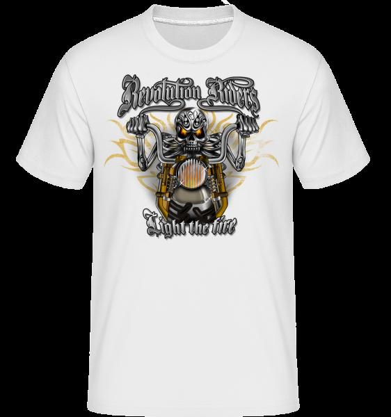 Revolution Riders - T-Shirt Shirtinator homme - Blanc - Devant