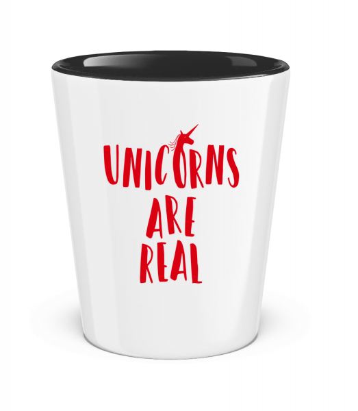Unicorns Are Real - Verre à shoot bicolore - Blanc - Devant