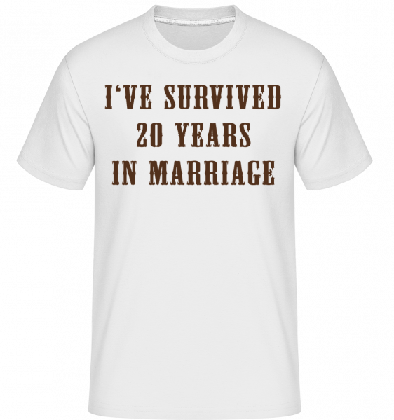 I've Survived 20 Years In Marria - T-Shirt Shirtinator homme - Blanc - Devant