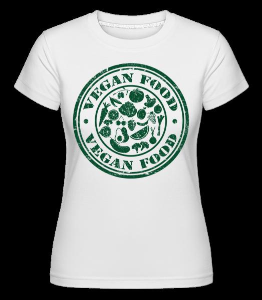 Vegan Food Sign - T-shirt Shirtinator femme - Blanc - Devant