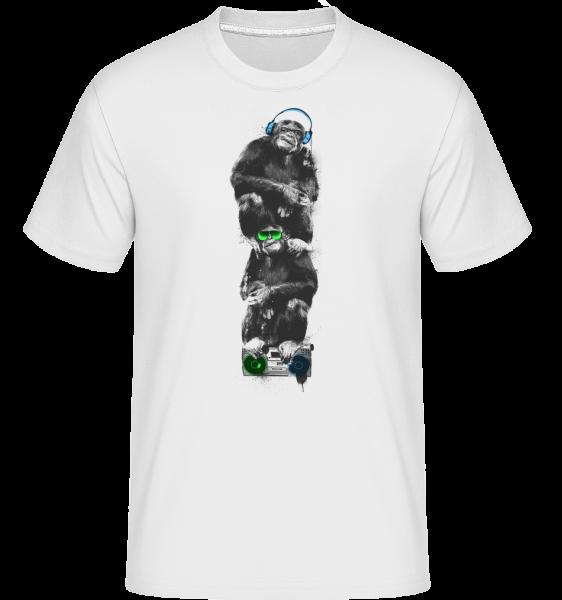 Singes De Musique - T-Shirt Shirtinator homme - Blanc - Devant